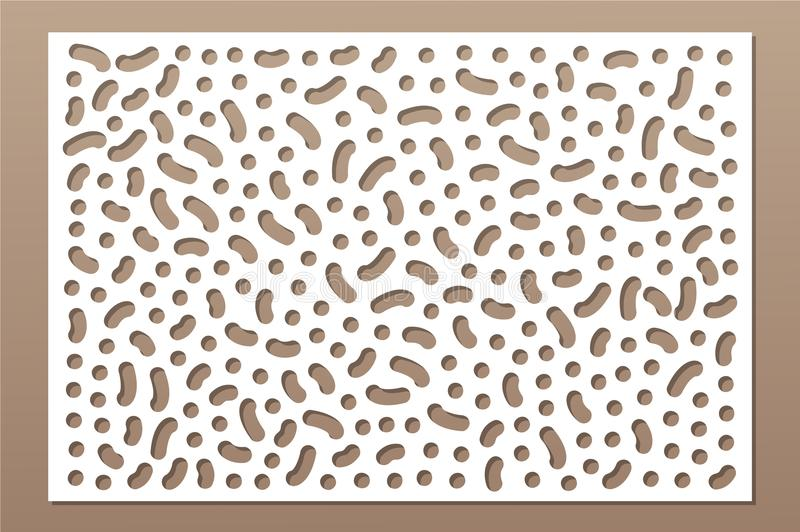Decorative card for cutting. Repeat points pattern. Laser cut panel. Ratio 2:3. Vector illustration.  vector illustration