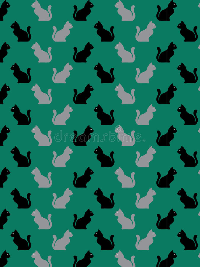 Decorative cat pattern royalty free stock images