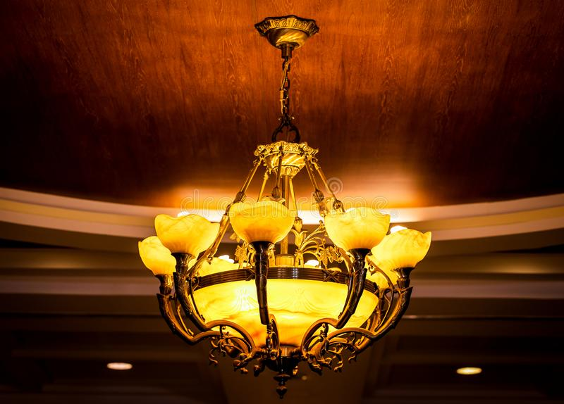 Decorative ceiling light royalty free stock photography