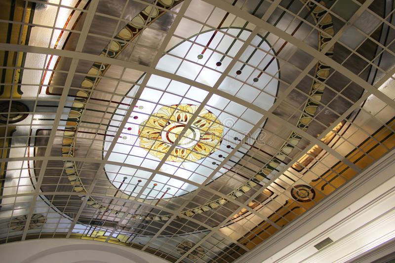 Decorative ceiling stock image