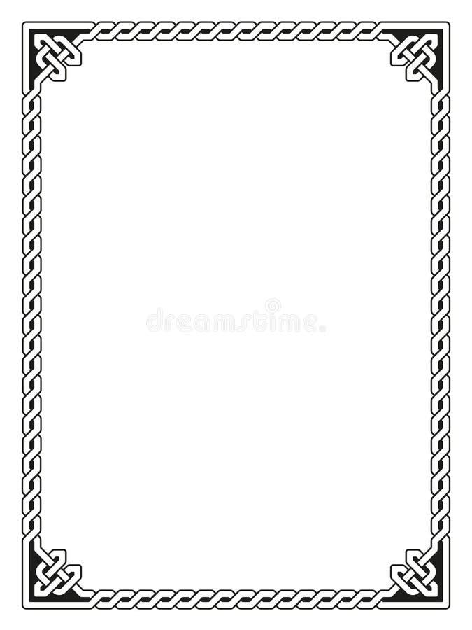 Decorative Celtic Frame Vector Illustration Stock Vector ...