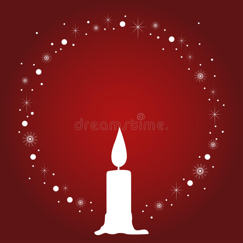 Decorative Christmas Candle stock illustration