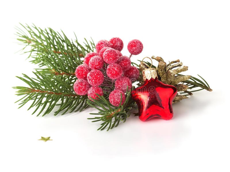Download Decorative Christmas Composition  On White Stock Image - Image: 35277267