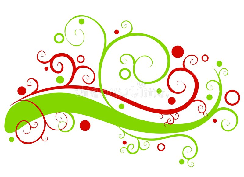 Decorative Christmas Garland Swirls vector illustration