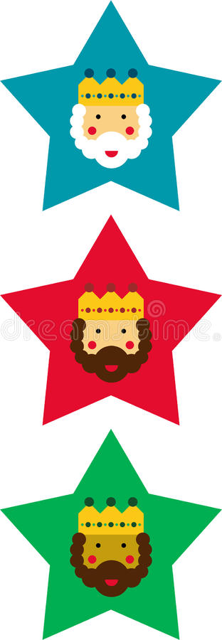 Decorative Christmas stars royalty free illustration