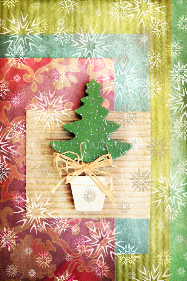 Decorative christmas tree royalty free stock photos
