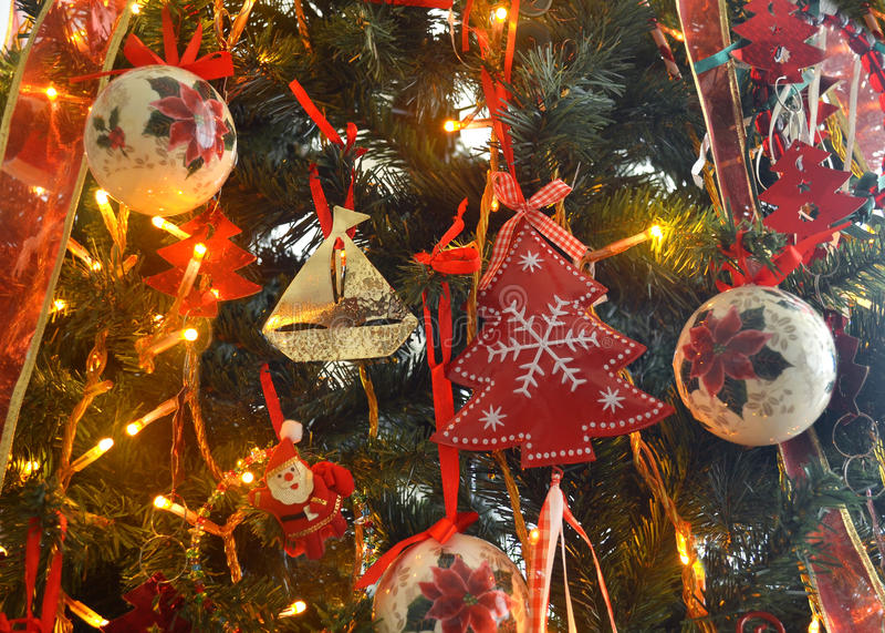 Download Decorative Christmas tree stock photo. Image of blinking - 83721010