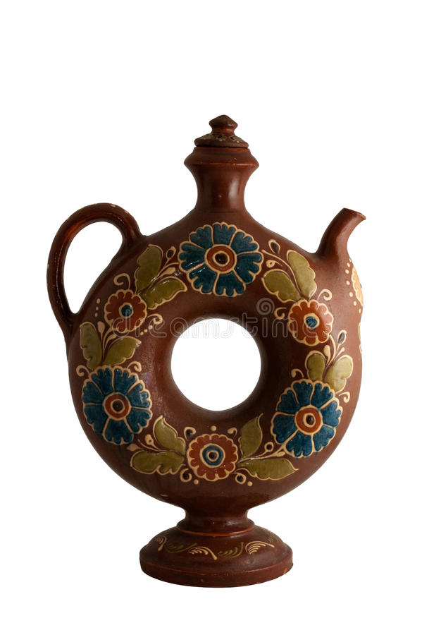 Decorative Clay Jug Royalty Free Stock Images