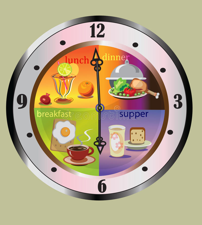 Download Decorative clock stock illustration. Image of plate, graphic - 25633738