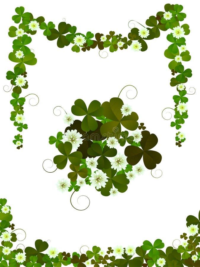 Decorative clover design royalty free stock photos