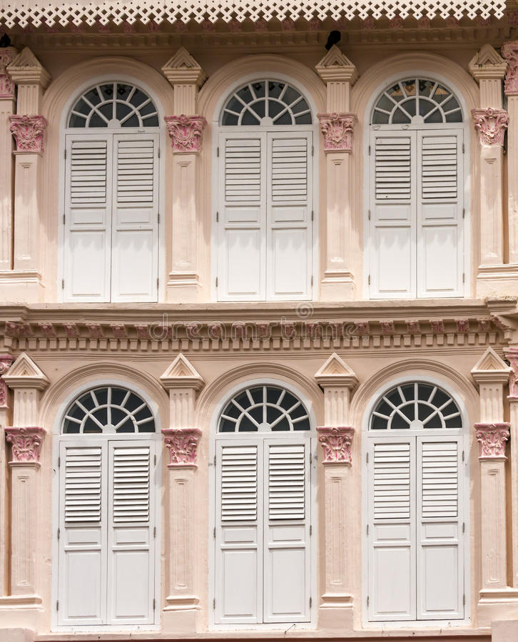 Free Decorative Colonial Building In Singapore Stock Photos - 86157603