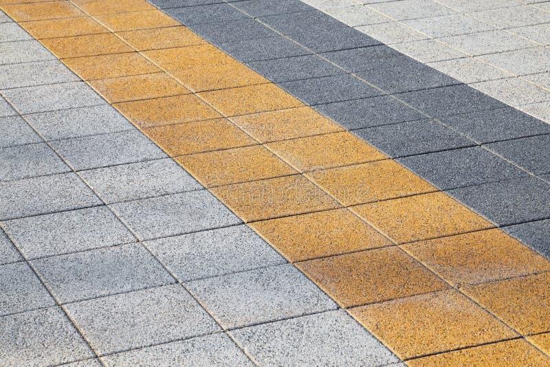 Decorative colorful sidewalk pavement stock photos