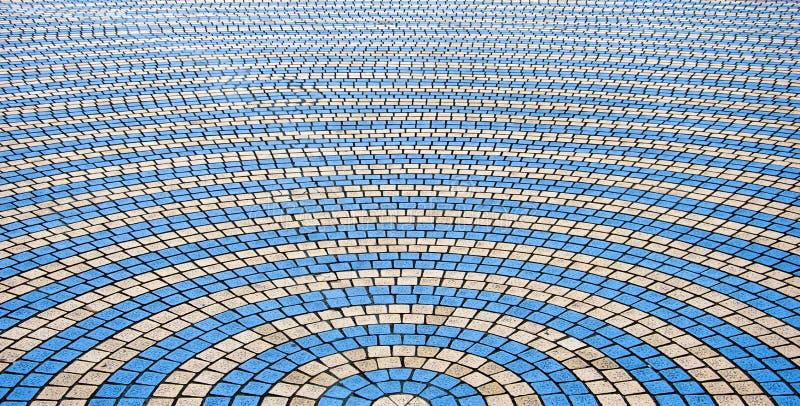 Decorative colorful sidewalk pavement. royalty free stock image
