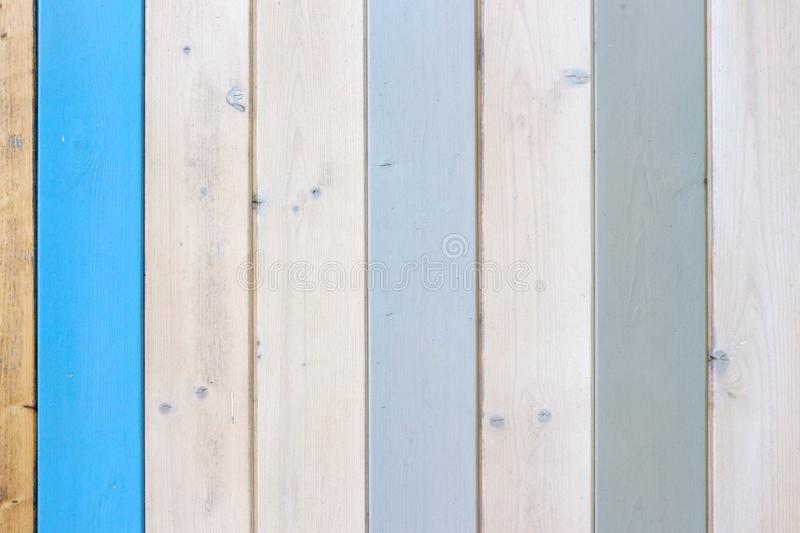 Decorative and colorful wood wall royalty free stock image