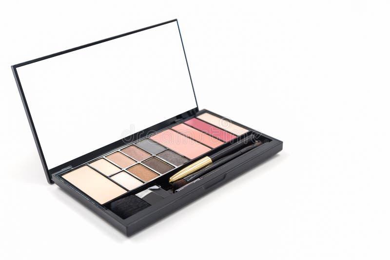Decorative Cosmetic set eyeshadow. Decorative Cosmetic set eyeshadow on white background royalty free stock images