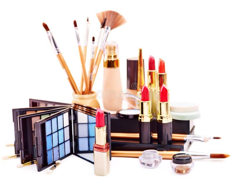 Decorative cosmetics for makeup. Close up royalty free stock photos