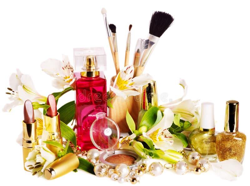 Decorative cosmetics and perfume.  royalty free stock photos