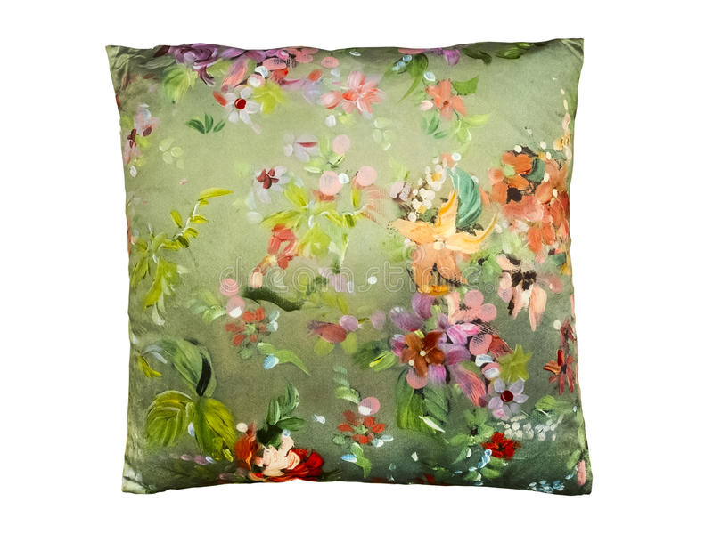 Decorative couch cushion royalty free stock photos