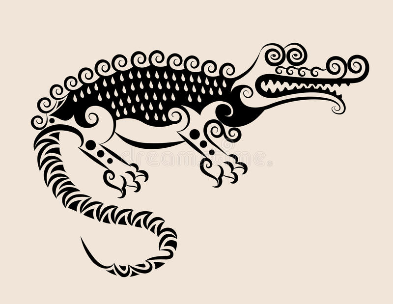 Download Decorative crocodile stock vector. Image of element, contour - 24644064