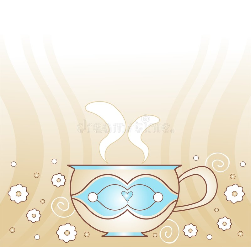 Decorative cup royalty free illustration