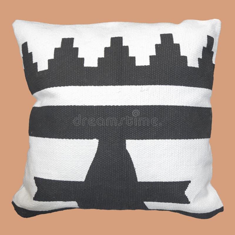 Decorative cushion geometric pattern stock photos