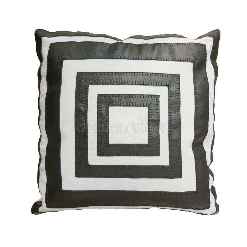Decorative cushion with geometric pattern. stock photography
