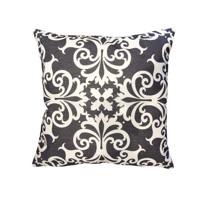 Decorative cushion with geometric pattern. stock photos