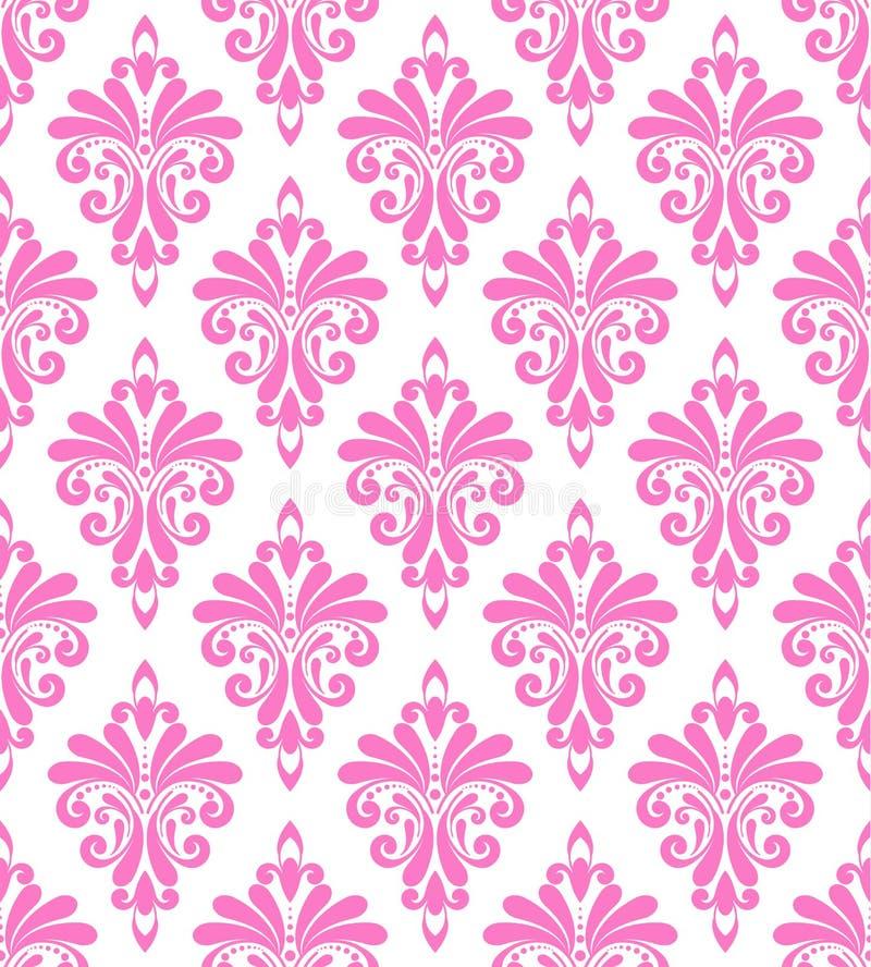Decorative damask seamless design royalty free stock photos