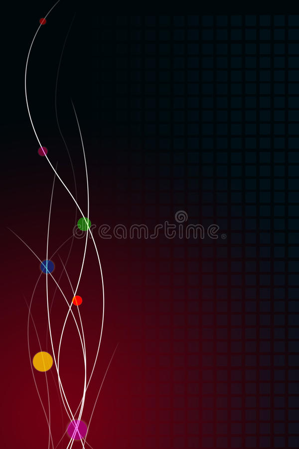 Decorative Dark Red Background. A decorative dark red background with space for text stock illustration