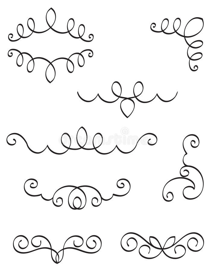 Decorative Design Elements Vector Royalty Free Stock Images