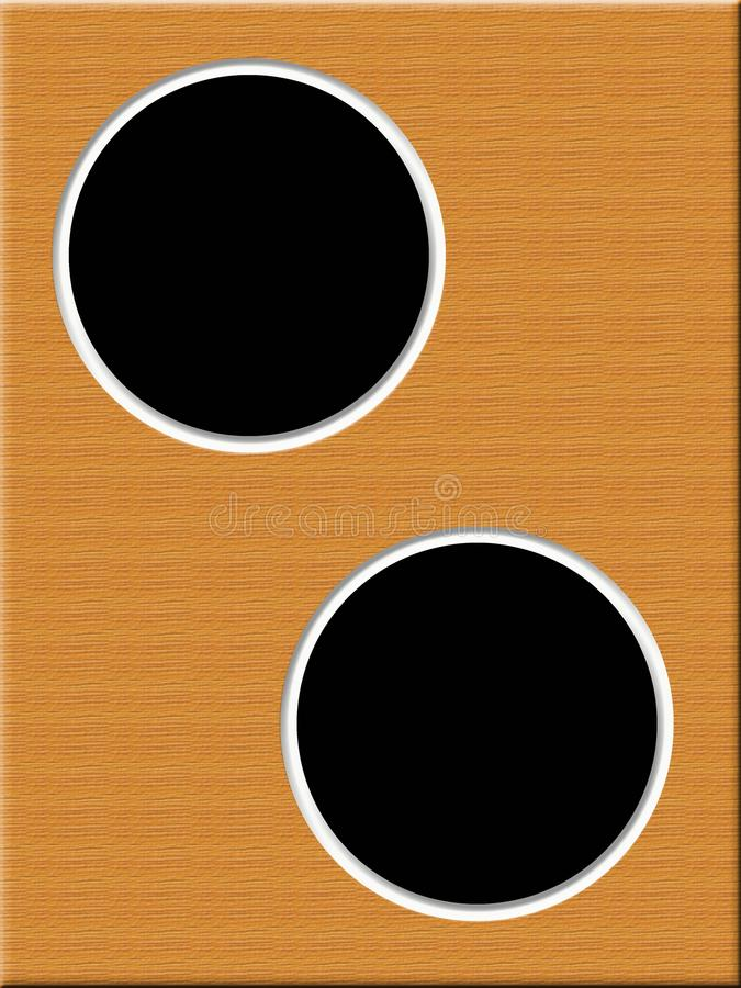 Digital photo frame, 2 circles for photos stock photography