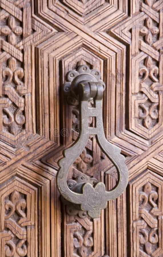 Download Decorative door knocker stock image. Image of ornate, metal - 3592953