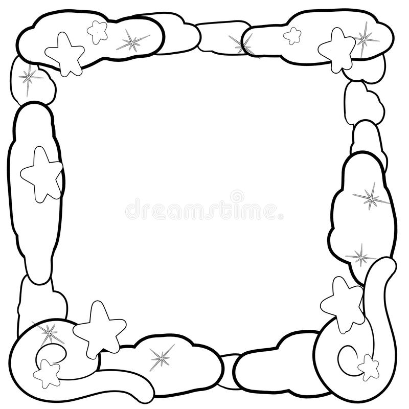 Decorative dreamland frame border stock illustration
