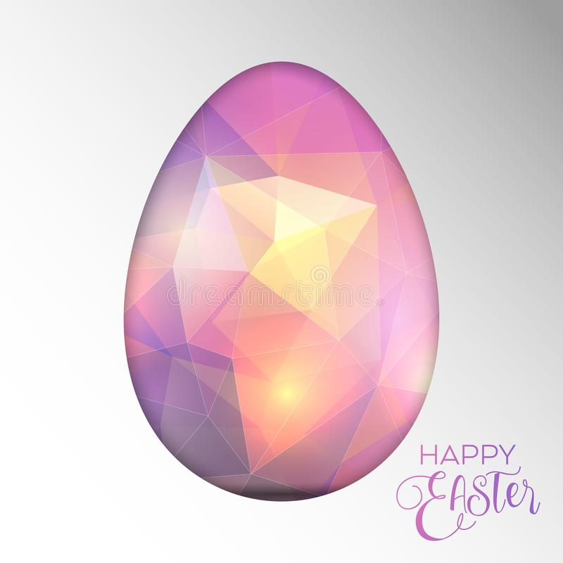 Decorative Easter background with cut out egg design vector illustration