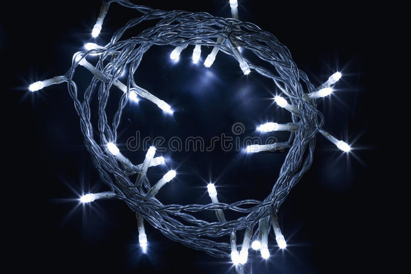 Download Decorative Electric Garlands Stock Photo - Image: 83700933