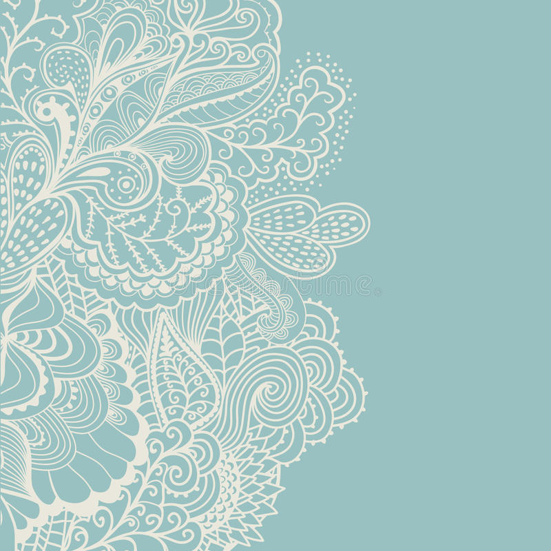 Decorative element border. Abstract invitation card. Template wa royalty free illustration