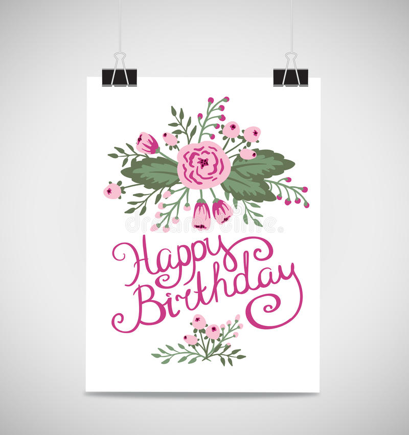 Decorative element floral birthday card a summer invitation card download decorative element floral birthday card a summer invitation card stock vector illustration bookmarktalkfo Image collections