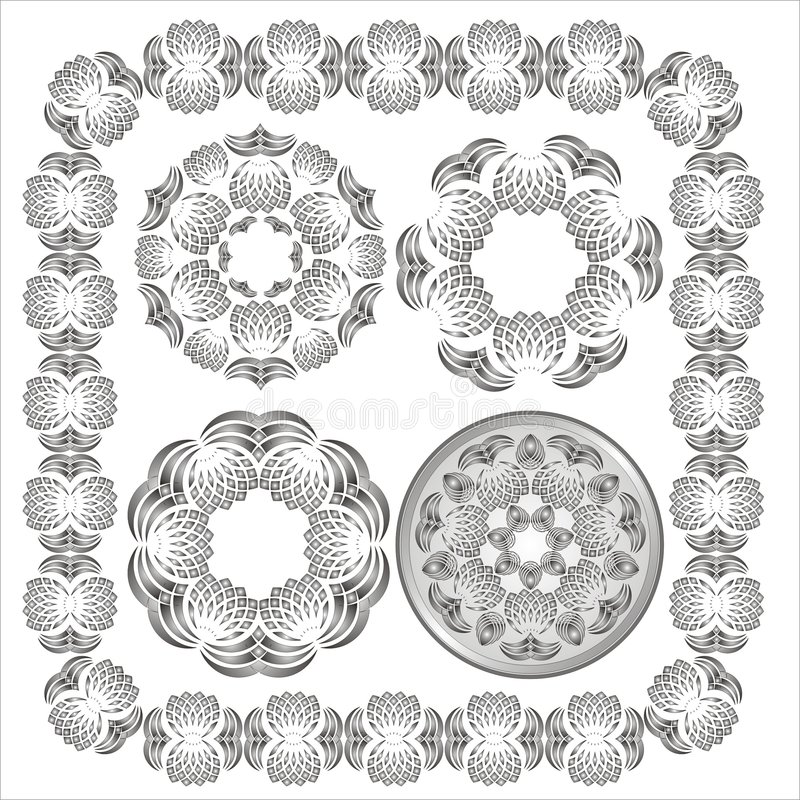 Decorative Elements. Page borders and corner elements. Vector stock illustration