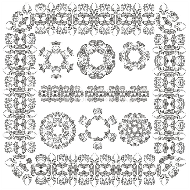 Decorative Elements. Page borders and corner elements. Vector royalty free illustration
