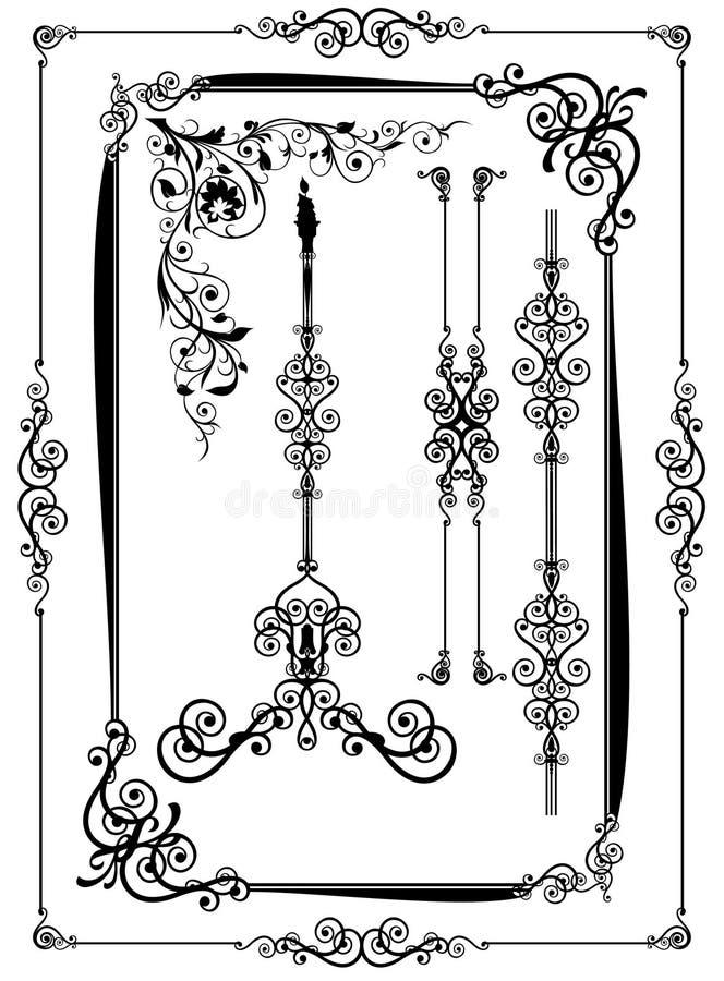 Decorative elements. On the isolated white background royalty free illustration