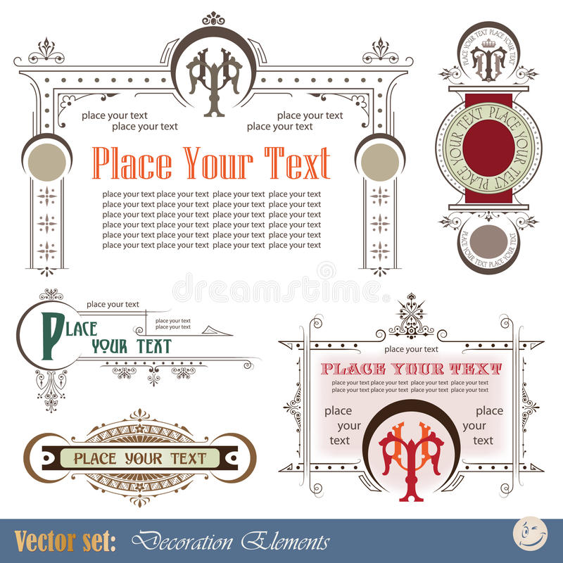 27 Stylized Outlined Motifs Stock Vector