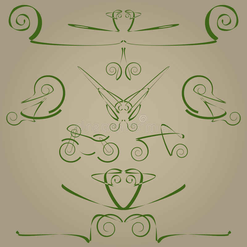 Download Decorative elements stock illustration. Image of fancy - 23547814