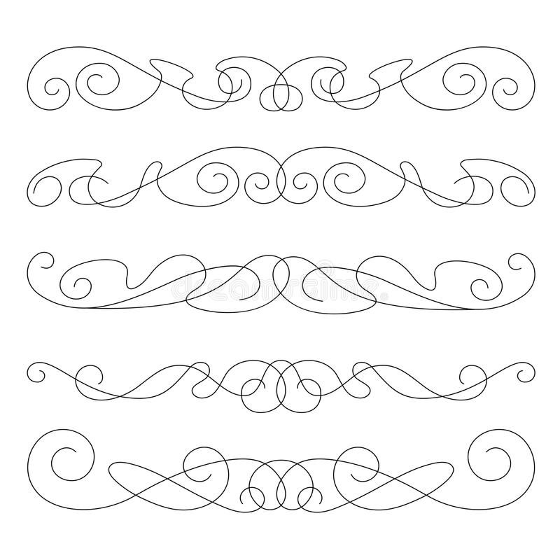 Decorative Elements, Border And Page Rules Stock Photo
