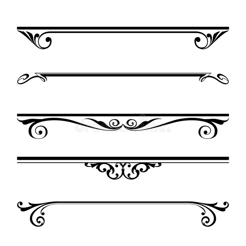 decorative elements border and page rules stock vector rh dreamstime com decorative border and frame set vector decorative border vector photoshop
