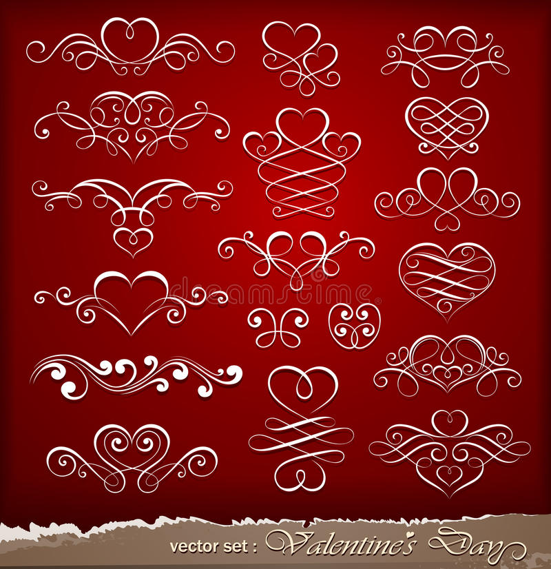 Decorative elements on Valentine's Day royalty free stock photography