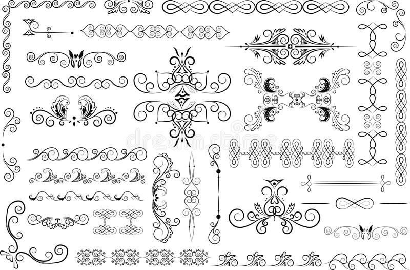 Download Decorative elements stock vector. Image of decoration - 32028639