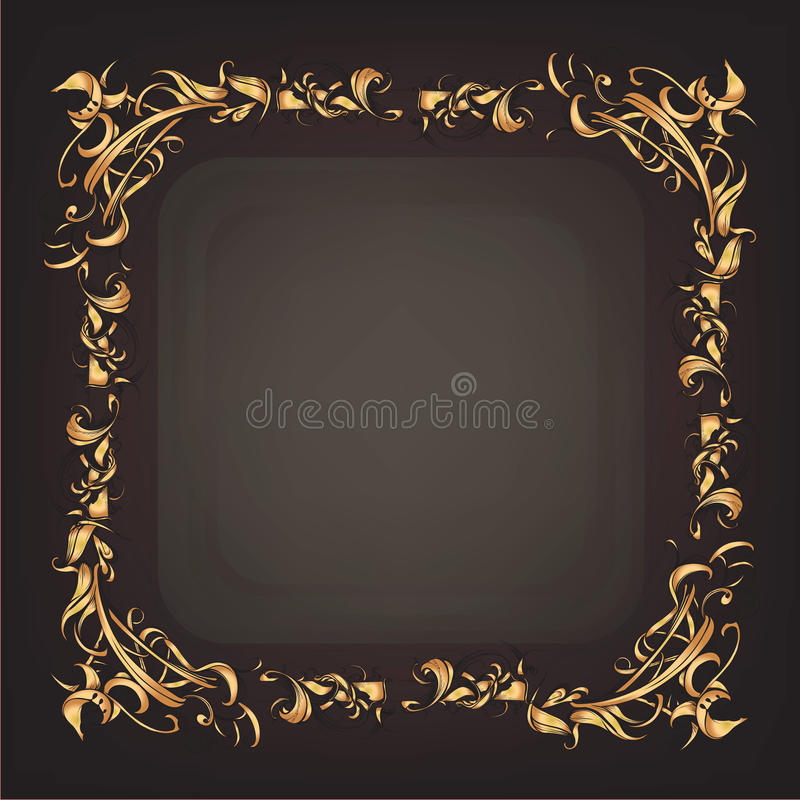 Decorative elements in vintage style for decoration layout, fram. Ing, for advertising, illustration hands royalty free illustration