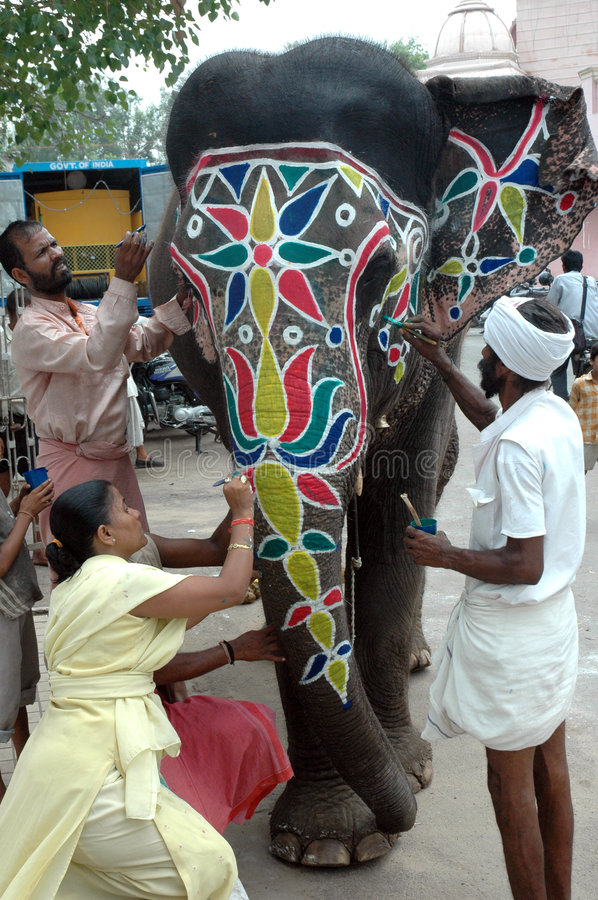 Decorative Elephant For Rath Yatra Festival Editorial Image