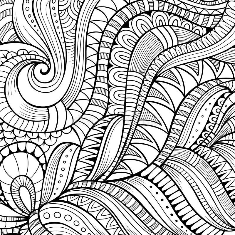 Decorative ethnic vector background stock illustration