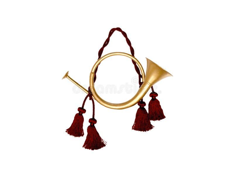 Decorative, festive horn royalty free stock photos